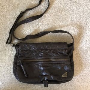 ROXY brown leather purse